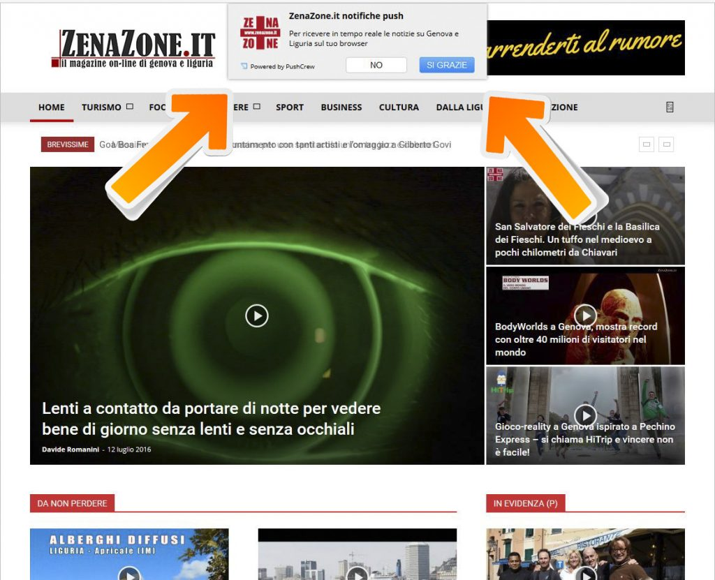 ZenaZone.it - le notifiche push