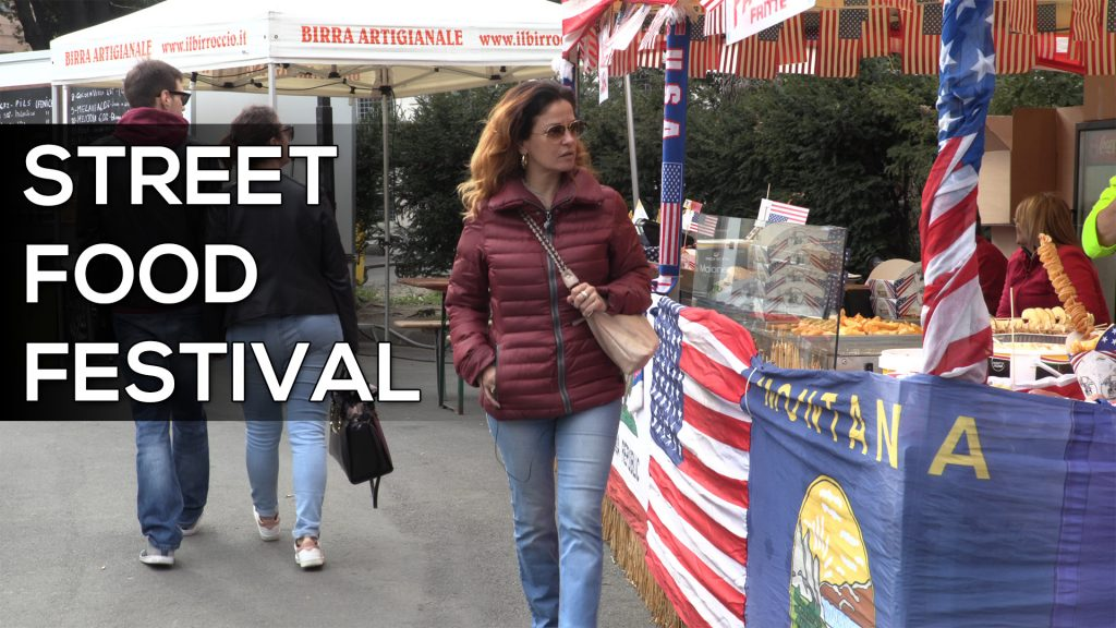 Michela Resi all'apertura dello Street Food Festival