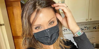 Sabrina Salerno e una mascherina ... alla moda